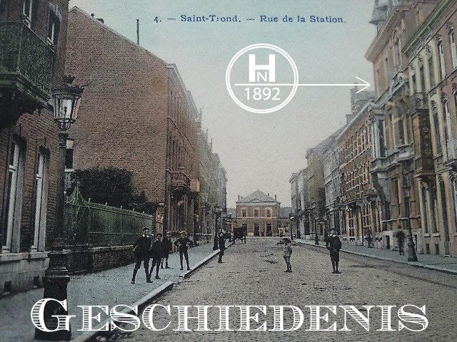 Historische afbeelding stationsstraat met zicht op het stationskwartier en als aanduiding Huis Nagels img