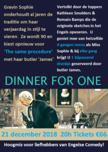 Dinner for one flyer 21-12-18
